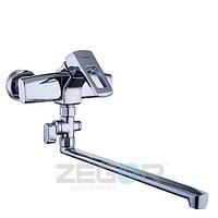 Смеситель для ванны с душем Zegor Z65-NEF6 (NEF6-A232) однорычажный с длинным гусаком цвет хром