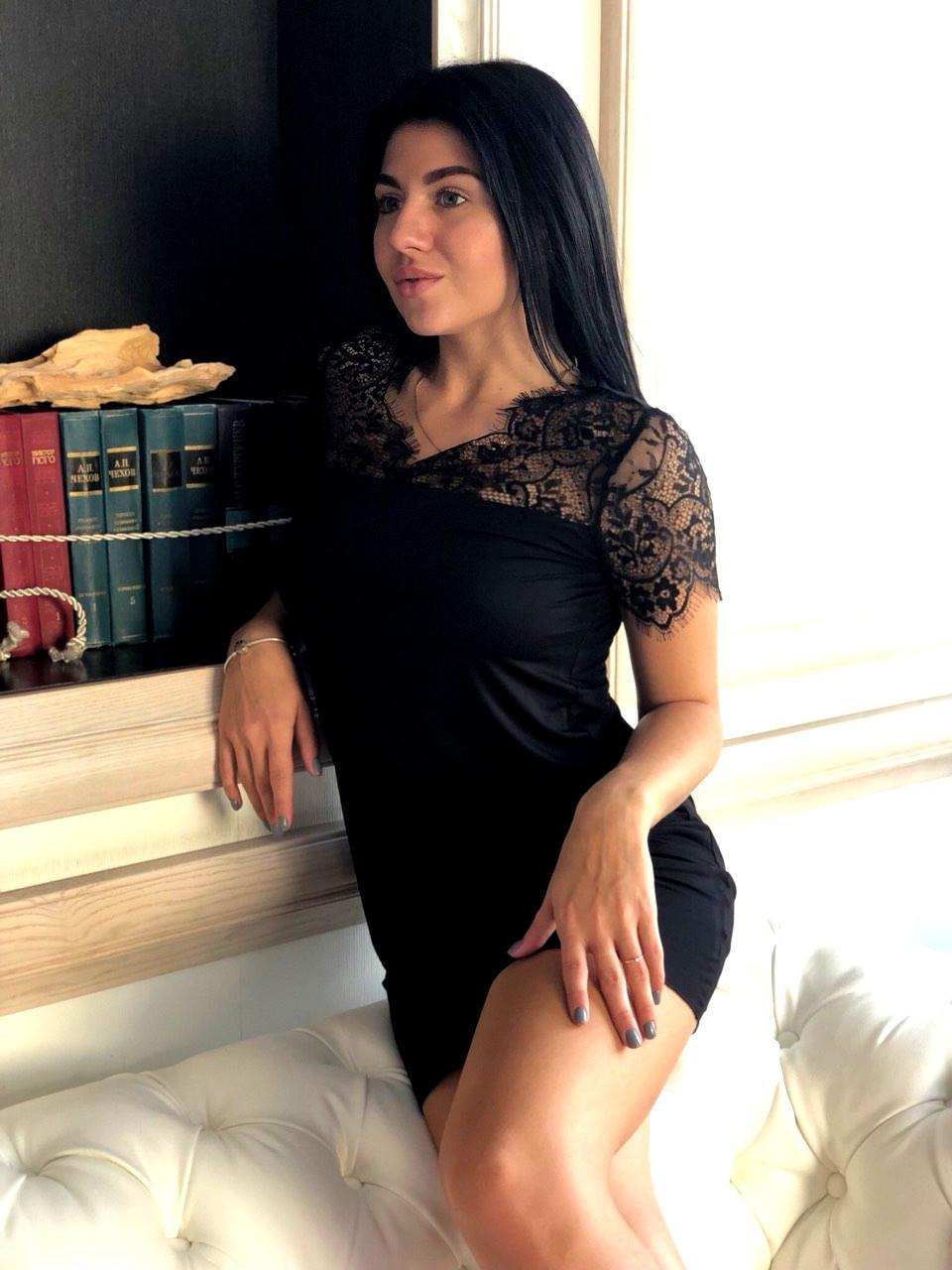 Женское черное платье пеньюар,трикотажное