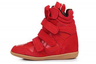 Оригинальные женские зимние кроссовки с мехом Sneakers Red Winter