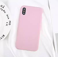 Стильный силиконовый чехол для Apple iPhone Х «iCase» (розовый)