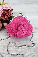 Сумочка цветочек розовая 13 х11 х 2 см 4355-1
