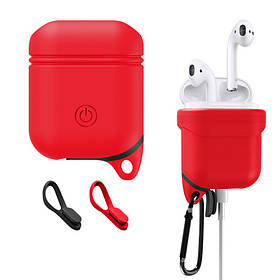 Силіконовий чохол Primo Sherp для Apple AirPods - Red