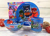 Красивый и яркий набор детской посуды Герои в масках