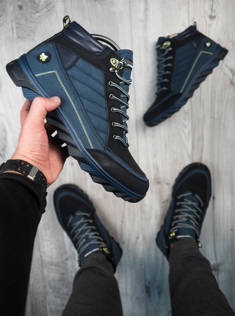 Мужские зимние ботинки харос Канада синего цвета