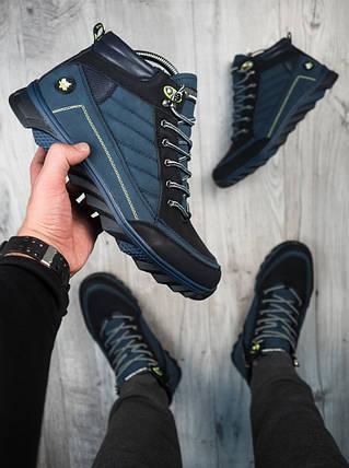Мужские зимние ботинки харос Канада синего цвета, фото 2