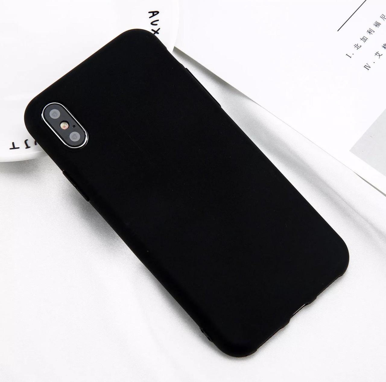 Стильный силиконовый чехол для Apple iPhone Х «iCase» (черный)