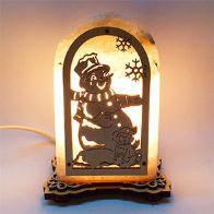 Соляная лампа Снеговик