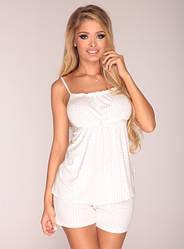 Пижама женская Delafense 915 молочный
