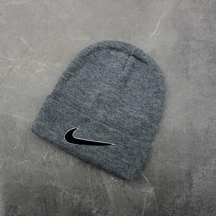 Шапка Nike Logo Gray, Серый, фото 2