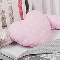 Декоративная подушка в форме сердца, расцветка на выбор, подушка детская для декора в форме сердца, фото 1