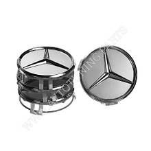 Качественная Заглушка для  колесного диска Mercedes Benz 75x70 Серая