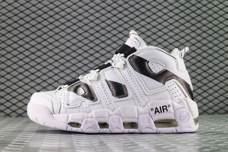 "Кроссовки Nike Air More Uptempo Off-White ""White/Black"" (Белые/Черные)"