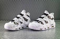 "Кроссовки Nike Air More Uptempo Off-White ""White/Black"" (Белые/Черные), фото 2"