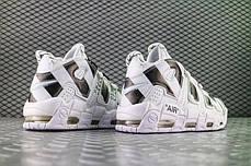 "Кроссовки Nike Air More Uptempo Off-White ""White/Black"" (Белые/Черные), фото 3"