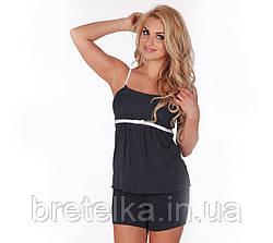 Пижама женская Delafense 915 темно-синий