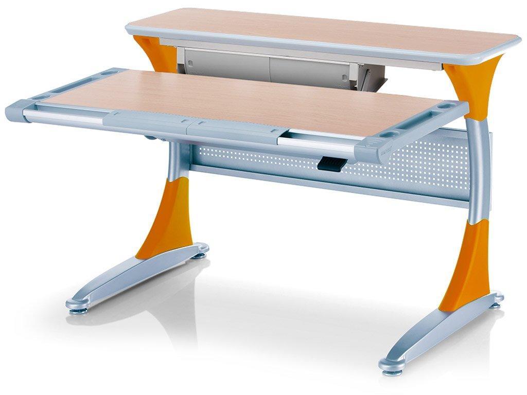 Дитяча парта растишка стіл трансформер Mealux Harvard BD-333 MG/Y - box Клен оранжевий з кабінетом