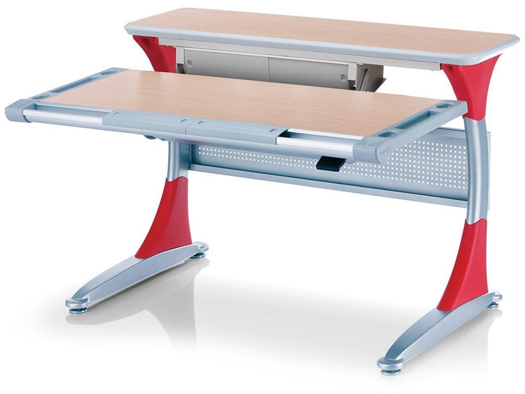 Дитяча парта растишка стіл трансформер Mealux Harvard BD-333 MG/R - box Клен червоний з кабінетом