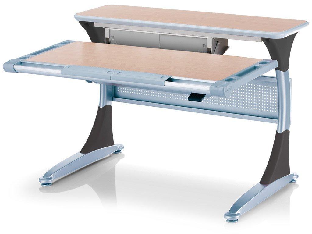 Дитяча парта растишка стіл трансформер Mealux Harvard BD-333 MG/B - box Клен чорний з кабінетом