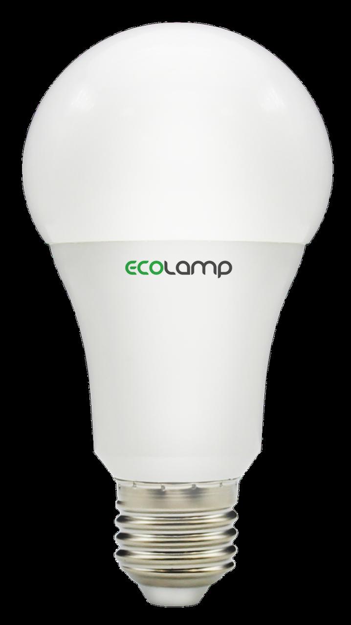 LED лампа ECOLAMP A60-10W-E27-1000lm-3000K