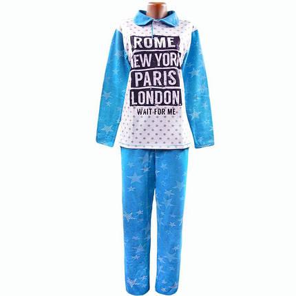 Пижама теплая женская начесная для дома и сна, фото 2