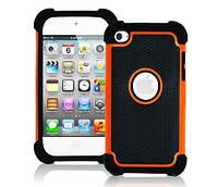Противоударный чехол бампер Primo Splint для Apple iPod 4 Touch (A1367) - Orange