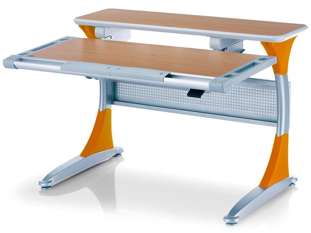 Дитяча парта растишка стіл трансформер Mealux Harvard BD-333 BG/Y Бук помаранчевий