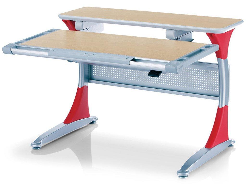 Детская парта растишка стол трансформер Mealux Harvard BD-333 MG/R Клён красный