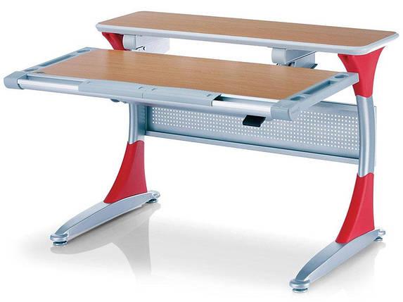 Детская парта растишка стол трансформер Mealux Harvard BD-333 BG/R Бук красный, фото 2