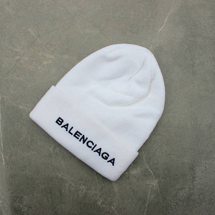 Шапка Balenciaga White, Білий, фото 2