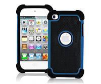 Противоударный чехол бампер Primo Splint для Apple iPod 4 Touch (A1367) - Blue