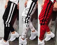 Мужские осенние весенние спортивные штаны с лампасами 3 цвета в наличии cfc35303424