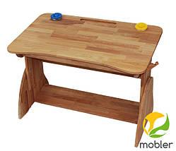 Комплект Детская парта растишка стол трансформер Mobler Р190-1 + стул С300 из натурального дерева Бук, фото 3