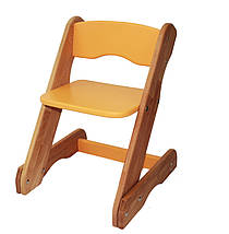 Комплект Детский регулируемый столик трансформер и стульчик Mobler Карапуз оранжевый из натурального дерева Бук, фото 3