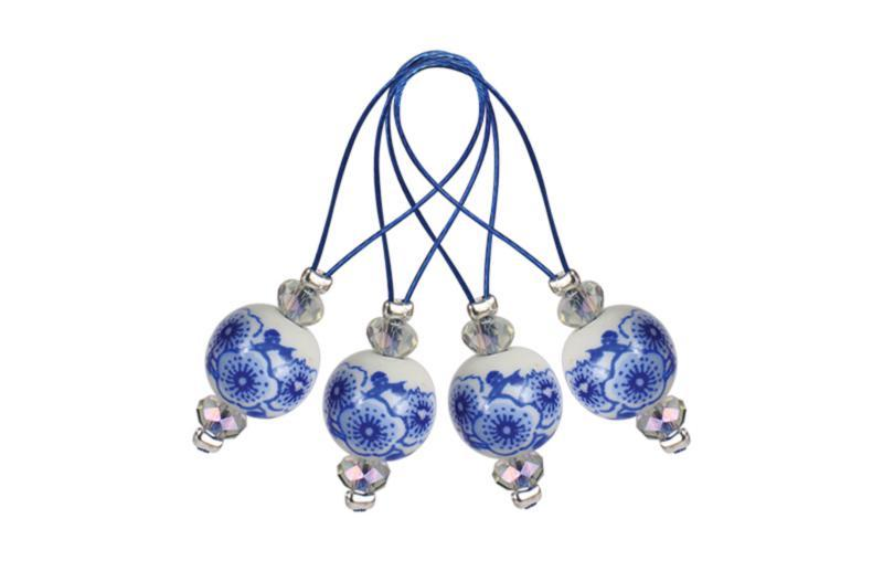 Маркеры петель Playful Beads Blooming Blue KnitPro (12 шт)