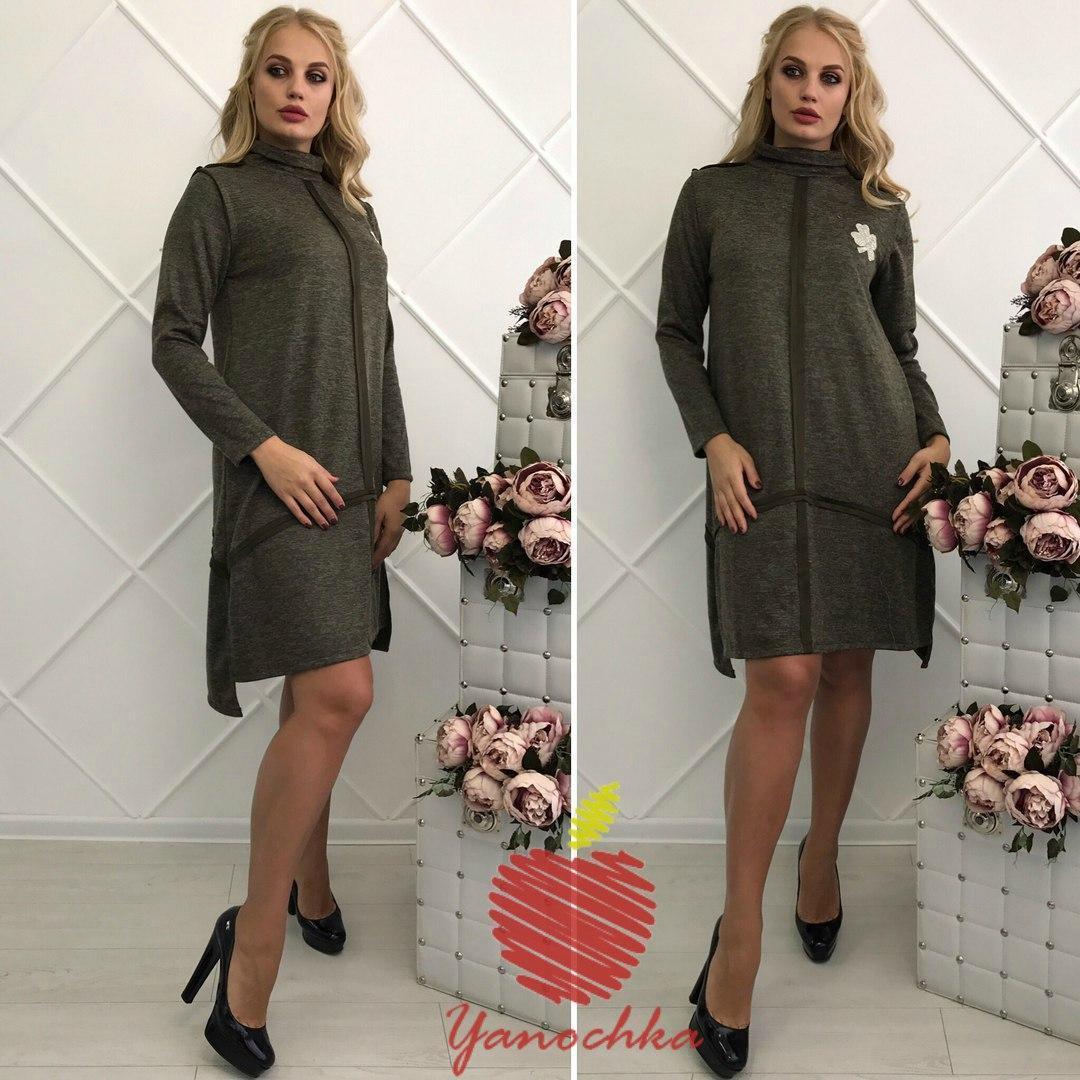 Платье ангора в расцветках 34713  Интернет-магазин модной женской одежды  оптом и в розницу . Самые низкие цены в Украине. платья женские от