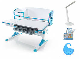 Дитяча парта растишка стіл трансформер Evo-Evo Kids-720 Aivengo (L) Blue