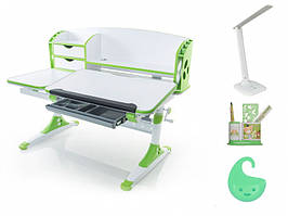 Дитяча парта растишка стіл трансформер Evo-Evo Kids-720 Aivengo (L) Green