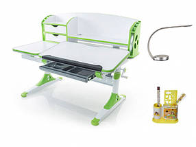 Детская парта растишка стол трансформер Evo-Kids Evo-720 Aivengo (L) Green, фото 3