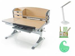 Дитяча парта растишка стіл трансформер Evo-Evo Kids-720 Aivengo (L) Maple