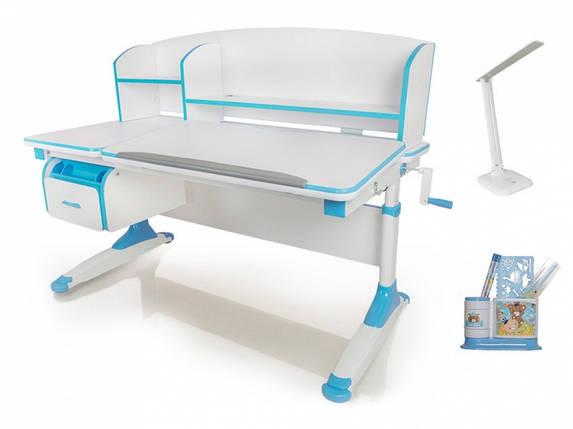 Детская парта растишка стол трансформер Evo-Kids Evo-420 Bruno Blue, фото 2