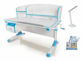 Дитяча парта растишка стіл трансформер Evo-Evo Kids-420 Bruno Blue