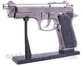 Зажигалка пистолет с лазером (Турбо пламя) №1880 Код 117879