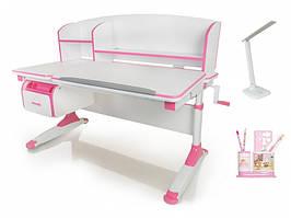 Дитяча парта растишка стіл трансформер Evo-Evo Kids-420 Bruno Pink