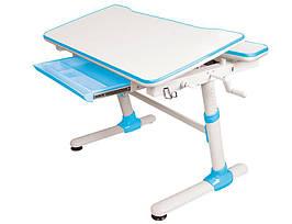 Дитяча парта растишка стіл трансформер Evo-Evo Kids-501 Duke Blue