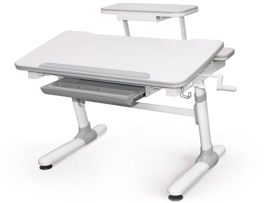 Детская парта растишка стол трансформер Evo-Kids Evo-501 Duke Grey (с полкой)