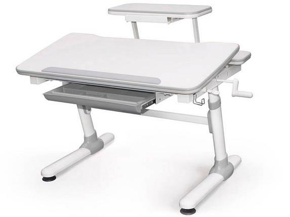 Детская парта растишка стол трансформер Evo-Kids Evo-501 Duke Grey (с полкой), фото 2