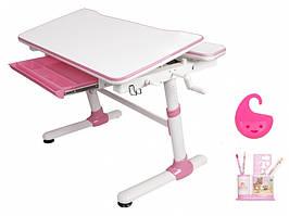 Дитяча парта растишка стіл трансформер Evo-Evo Kids-501 Duke Pink