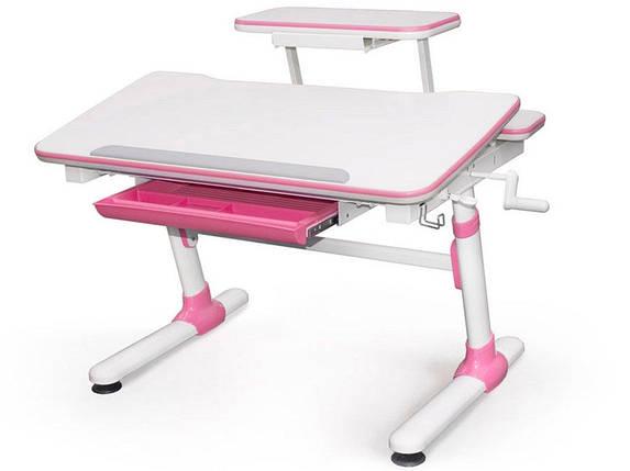 Детская парта растишка стол трансформер Evo-Kids Evo-501 Duke Pink (с полкой), фото 2