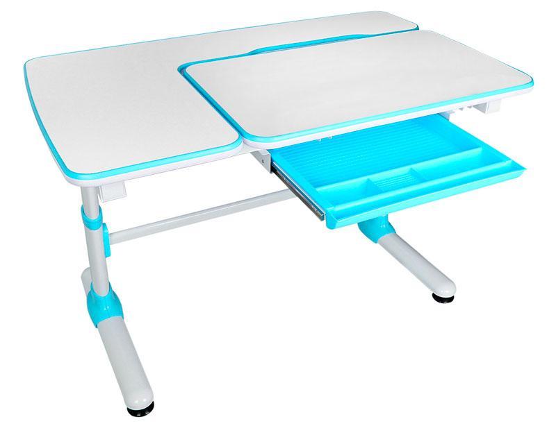 Детская парта растишка стол трансформер Evo-Kids Evo-502 Darwin Blue