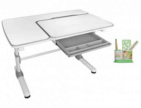 Детская парта растишка стол трансформер Evo-Kids Evo-502 Darwin Gray, фото 2